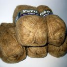 Acrylic Wool Alpaca yarn 5 skeins 50g each Tan Marnel Peru