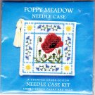Textile Heritage Poppy Meadow Needle Case Counted Cross Stitch Kit