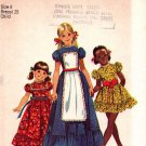 Simplicity 9732 Pattern uncut 6 Vintage 1970s Girls Ruffle Dress Short or Long, Button-On Apron