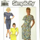 Simplicity 9704 Pattern uncut 4 6 8 10 12 Knee Length Dress Back Zip Capelet Collar