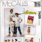 McCall's 7420 Pattern uncut The Flintstones with Iron On Transfers all sizes Sweatshirt T Shirt