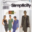 Simplicity 8057 Pattern uncut 20 22 24 Fit Flare Jacket Sleeveless Dress Designs By Shanti