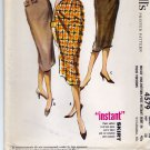 McCall's 4579 waist 26 Hip 36 Uncut Pencil Skirt Vintage 1950s Fringe Welt Pockets or Bow
