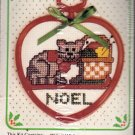 Counted Cross Stitch Christmas Ornament Kit Knitting Cat Noel 30637 New Berlin