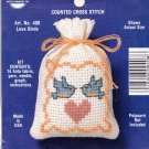 Counted Cross Stitch Kit 408 Stitch N Stuff Love Birds Potpourri Sachet NMI