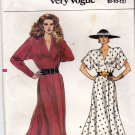 Vogue 9801 Pattern uncut 8 10 12 Semi Fitted Flared Wrap Dress Above Ankle Vintage 1980s