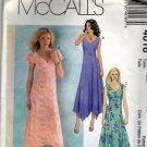 McCall's 4016 Pattern uncut 14 16 18 20 Fit and Flare Dress Handkerchief Hemline Flutter Sleeves