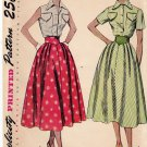 Simplicity 3200 Pattern Bust 32 Blouse Full Skirt Pointed Cummerband Waist 1950s Cut, Complete