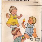 Butterick 3949 Pattern uncut Infants Small 13 - 18 pounds Jumper Panties Overalls Shirt