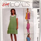 McCall's 8677 Pattern uncut 10 12 14 Maternity Wardrobe Jumper Top Skirt Leggings Shorts