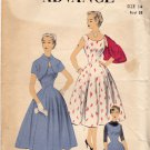 Advance 6779 Pattern 14 Bust 32 Fit and Flare Dress Jumper Bolero Vintage 1950s