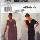 Butterick 3303 Pattern uncut 18 20 22 A-line dress High Low Hem Sleeveless or Slit Flutter Sleeves