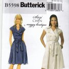Butterick B5598 Pattern uncut 8 10 12 14 Double Breasted Dress Belt Suzi Chin Maggy Boutique