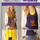 Simplicity 1685 Pattern uncut Bags Scarf ID Holder Bracelet Wrap Cuff Lindsay Mason Couture