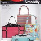 Simplicity 4909 Tote Bags Sewing Pattern may be missing pieces, 50 cents plus shipping