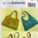Butterick B5109 Pattern uncut Large Handbag Purse Shoulder Bag