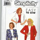Simplicity 9568 Pattern 6 8 10 12 14 Unlined Jacket in Three Lengths Vintage 1990s