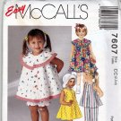 McCall's 7607 Pattern uncut Toddlers 2 3 4 Dress Top Pants Panties Bloomers