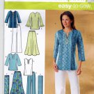 Simplicity 4149 Pattern 10 12 14 16 18 Skirt Tunic Pants Scarf Separates