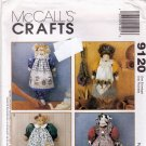 McCall's 9120 Sewing Pattern Grocery Bag Holders Michelle Hains Doll Cat Cow Bunny