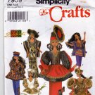 Simplicity 7959 Sewing Pattern Fashion Doll Clothes African Shanti