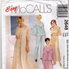 McCall's 2648 Pattern uncut 26W 28W 30W 32W Duster Jacket Dress Top Pants