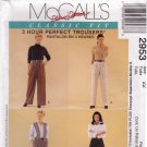 McCall's 2953 Pattern uncut 22 Palmer and Pletsch 3 hour Perfect Trousers Shorts Pants Fitting Shell