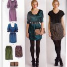 Simplicity 2305 Pattern uncut 4 6 8 10 12 Dresses Skirts Clutch Purse Variations Cynthia Rowley