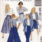McCall's 5818 Pattern uncut XL 22 24 Jacket Top Split Skirt Pants