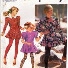 Simplicity 7538 Pattern uncut Girls 7 8 10 Mini Dress Top Leggings