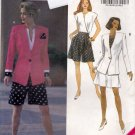 Butterick 6155 Pattern uncut 6 8 10 Shorts Suit with Jacket Top Wide-Leg Shorts