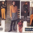 Vogue Sport 2966 Pattern uncut 12 14 16 Jacket Dress Top Skirt with Fringe Hem Pants