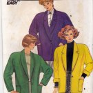 Butterick 3981 Pattern uncut P-S-M Loose Fit Unlined Jacket with Shoulder Pads Vintage 1980s