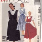 McCall's 4358 Pattern uncut 10 12 14 Jumpers with Full Skirts and Pockets 1980s