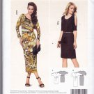 Burda 6919 Uncut 8 10 12 14 16 18 Knit Dress Kimono Sleeves With Cutouts Tucks