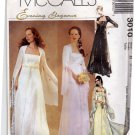 McCall's 3010 Pattern uncut 8 10 12 Lined Empire Waist Gown Dress Bridal Renaissance