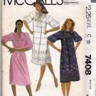 McCall's 7408 Pattern uncut small 10 12 Loose Fit Dress for Border Print or Eyelet 1980s