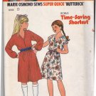 Butterick 6658 Pattern uncut Girls S M L Simple Dress Kimono Sleeves Marie Osmond