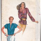 Butterick 6811 Pattern uncut 10 Blouse with Standing Collar Front Bodice Tucks 1980s