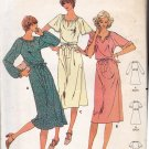Butterick 6052 Pattern uncut 10 Dress Oval Neckline Front Slit for Knits 1970s