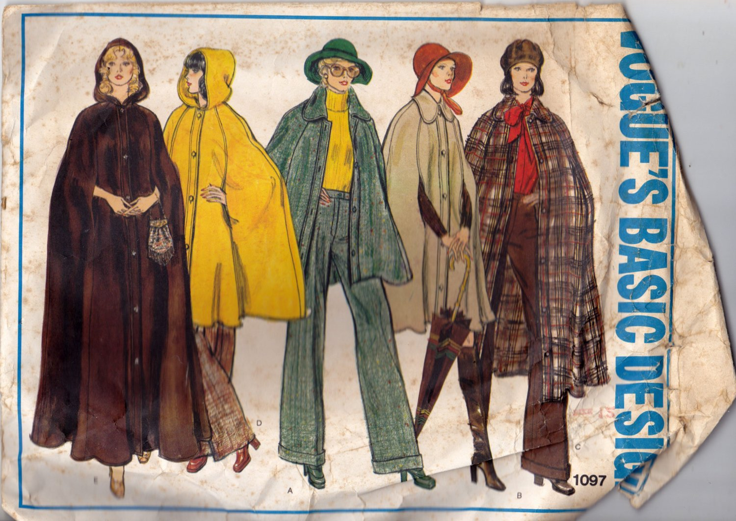 Vogue 1097 Pattern 12 Capes, may be missing pieces, 50 cents + shipping