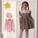 Simplicity 8989 Pattern Uncut Girls 6 Short Party Dress Peter Pan Collar Coat
