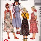 McCall's 7250 Pattern uncut Girls 10 12 14 Apron Dress Pockets Learn to Sew for Fun