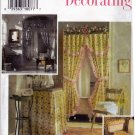 Simplicity Home Decor Pattern 9595 Uncut Bathroom Shower Curtain Toilet Cover Tissue Box