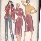 Butterick 3357 Pattern uncut 8 10 12 Jacket Cowl Neck Blouse Pants Skirt