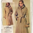 Butterick 303 Pattern uncut 14 Classic Wrap Coat Lined opt. Synthetic Suede