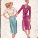 Butterick 3356 Pattern uncut 10 Semi Fitted Lined Jacket Blouse Straight Skirt Suit