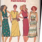 Butterick 6566 Pattern uncut 8 10 12 Loose Fit Dress Elasticized Waist Sleeveless Short Sleeves