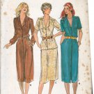 Butterick 6808 Pattern uncut 8 10 12 Button Front Dress Top A-Line Skirt