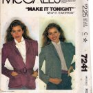 McCall's 7241 Pattern uncut medium 14 16 Jacket Fake Fur or other fabrics
